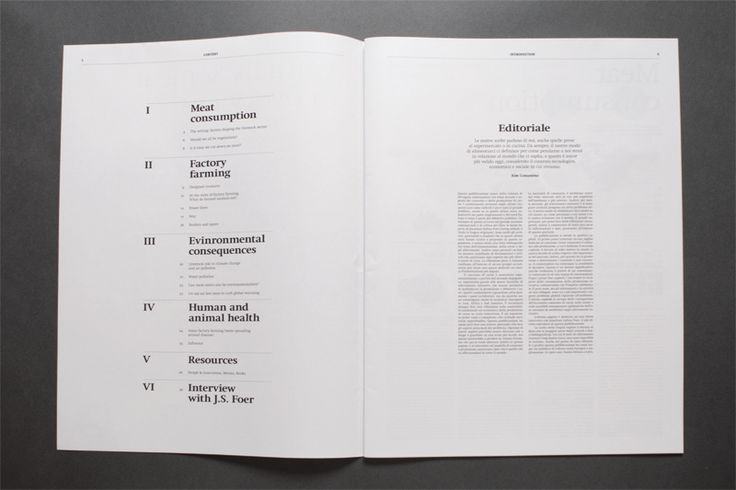 contents page/ grid/ white space/ newspaper-style