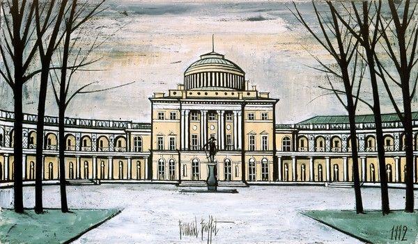 Bernard BUFFET ( 1928 - 1999 ) - Peintre Francais - French Painter Saint-Petersbourg Pavlosk Le Palais