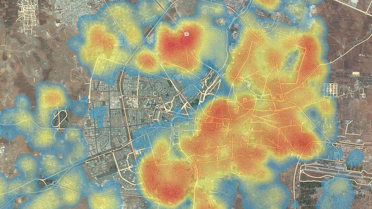 Satellitenbilder des zerstörten Aleppo: Die geschundene Stadt - SPIEGEL ONLINE - Nachrichten - Politik