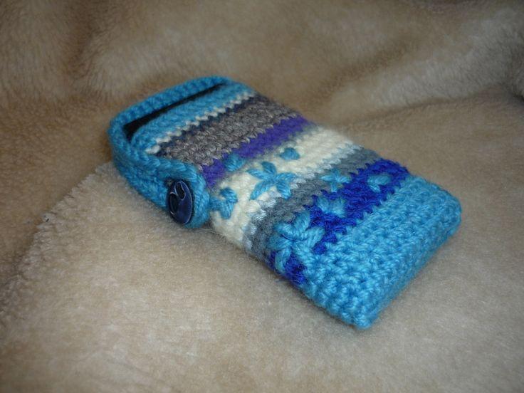 Háčkovaný obal na mobil* crocheted * by Tnika
