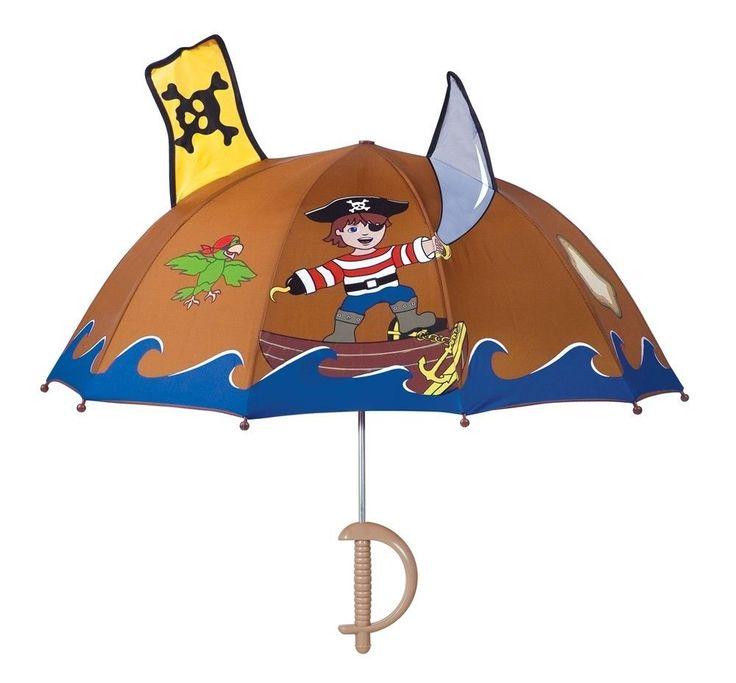 Boys Designer Pirate Umbrella,Licensed Kidorable Merchandise,Birthday Gifts