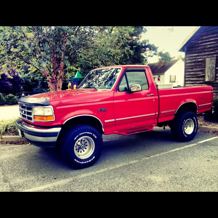 My baby for life 1995 ford f150 4x4 on 33s | Oldies but ...