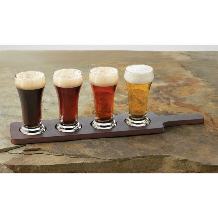 This Craft Brews beer flight set is excellent for sampling small quantities of a variety of different brews. It's great for parties or times when you only want a small glass of beer.