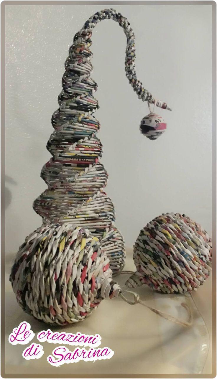 Alberelli e sfere di carta