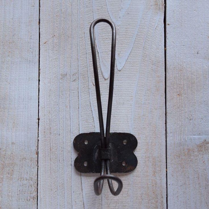 5,50 Stück -- Wandhaken Metall Shabby Stil Haken nostalgie braun Garderobe antik braun | eBay