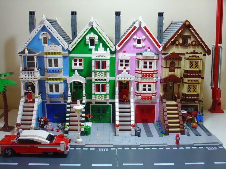 Painted Ladies of San Francisco...in Lego blocks!