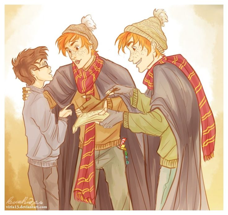 the marauder's map by *viria13 on deviantART Harry Fred and George