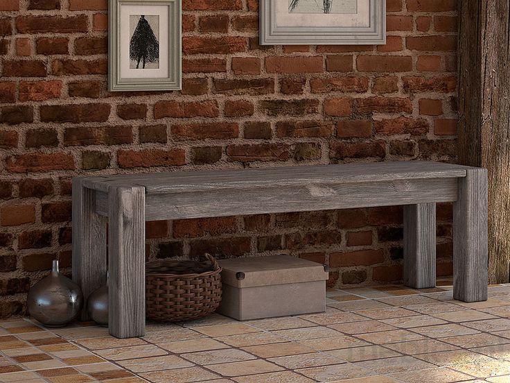 Rustykalna ławka drewniana Country 24, SEART furniture - Meble