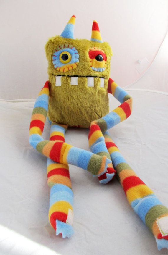 Cute Monster BARNES handmade by PinkSprinklesPlush