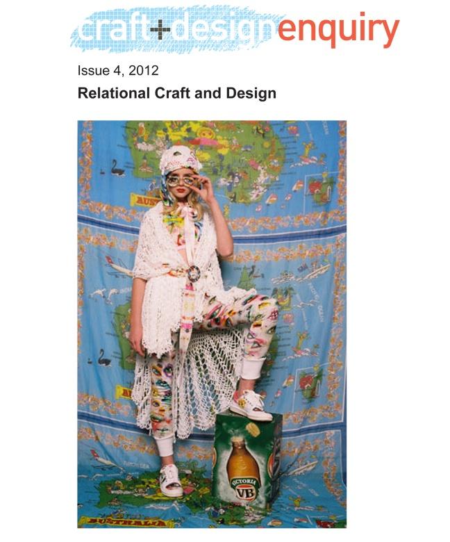 craft+deign enquiry issue 4, 2012 free online journal, Romance Was Born,  Regional Australia Spring/Summer 2006. Romance Was Born,  Regional Australia Spring/Summer 2006.