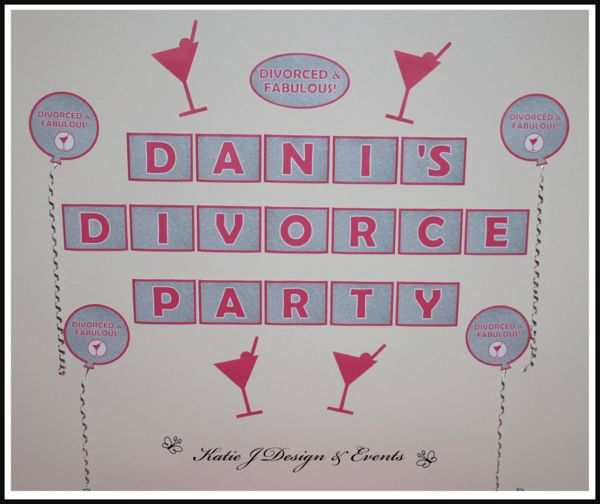 40 best divorce party ideas decorations images on pinterest pink silver glitter divorce party personalised party decorations supplies packs shop online australia banners bunting wall solutioingenieria Image collections