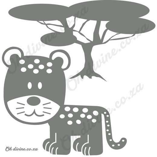 Our Leopard is not just fast, but cute as well. Order this easy to apply and remove wall decal in the colour of your choice.