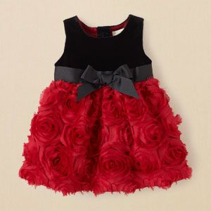 newborn - girls - dresses & rompers - 3D flower dress | Children's Clothing | Kids Clothes | The Children's Place