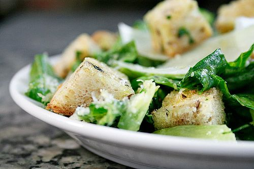 One of my favorite foods on the entire planet is a simple Caesar Salad - with or without the chicken. Delicious!