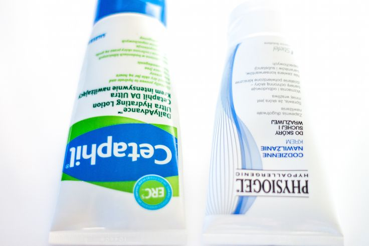 Cetaphil vs. Physiogel justineyes.com #cetaphil #physiogel #cream