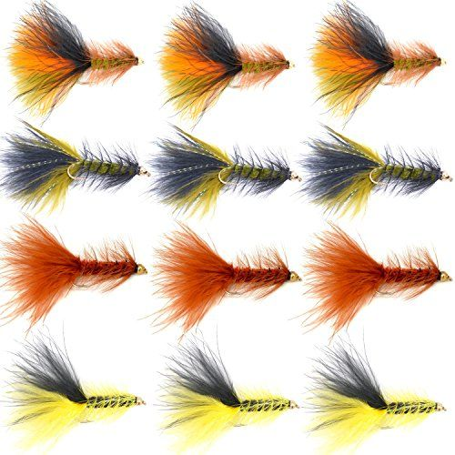 The Fly Fishing Place Bead Head Woolly Bugger Classic Streamer Flies - Set of 12 Bass and Trout Fly Fishing Flies - Hook Size 4  http://fishingrodsreelsandgear.com/product/the-fly-fishing-place-bead-head-woolly-bugger-classic-streamer-flies-set-of-12-bass-and-trout-fly-fishing-flies-hook-size-4/  Outstanding classic streamer fly pattern for luring large fish to strike. A selection of 4 of the proven best Woolly Bugger colors Bead head Wooly Buggers should be in every big trou