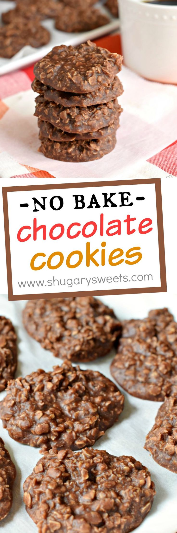 recipe for No Bake Chocolate Cookies! The peanut butter with chocolate ...