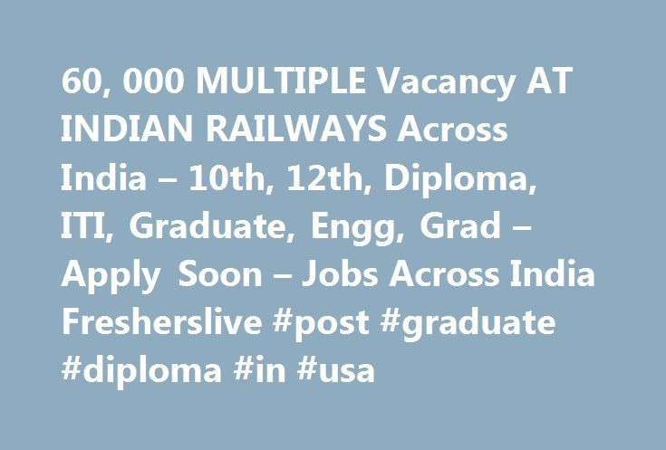 60, 000 MULTIPLE Vacancy AT INDIAN RAILWAYS Across India – 10th, 12th, Diploma, ITI, Graduate, Engg, Grad – Apply Soon – Jobs Across India Fresherslive #post #graduate #diploma #in #usa http://puerto-rico.remmont.com/60-000-multiple-vacancy-at-indian-railways-across-india-10th-12th-diploma-iti-graduate-engg-grad-apply-soon-jobs-across-india-fresherslive-post-graduate-diploma-in-usa/  # 60,000 MULTIPLE Vacancy AT INDIAN RAILWAYS Across India – 10th,12th, Diploma, ITI, Graduate, Engg, Grad…