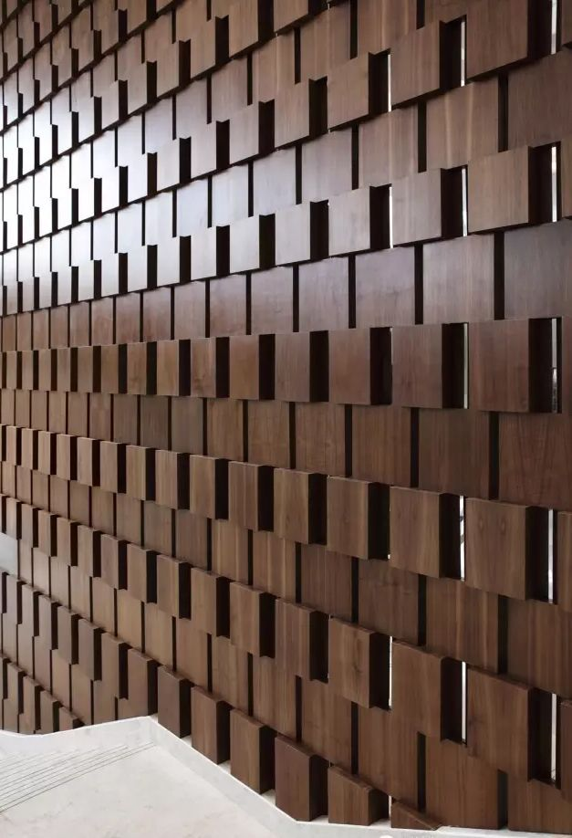 Dynamic Wood Pattern To Clad Feature Walls Staircases Fireplaces