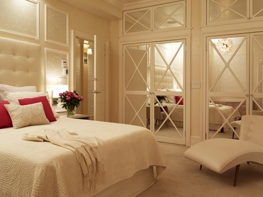Mirrored closet doors built in closets pinterest for Basement bedroom ideas no windows