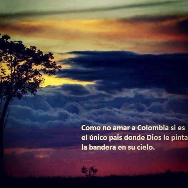 DIOS Pinto la bandera de Colombia en nuestro cielo