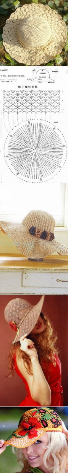 56 best chapéu images on Pinterest | Hand crafts, Hat crochet and ...