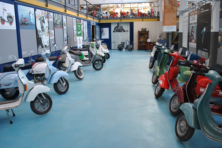 PIAGGIO MUSEUM tells the #history of #products that represent excellence in #creativity and technological competence, while exalting the entrepreneurial capabilities of the people who designed and produced them.   #Vespa #scooters manufactured after 1970 and now in #Piaggio #Museum Pontedera #Tuscany #Italy Discover more! http://www.museopiaggio.it/en/index_en.html