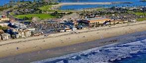 Aerial of Mission Beach in San Diego