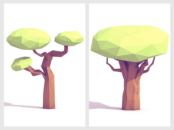 Low-Poly [Non-Isometric] on Behance