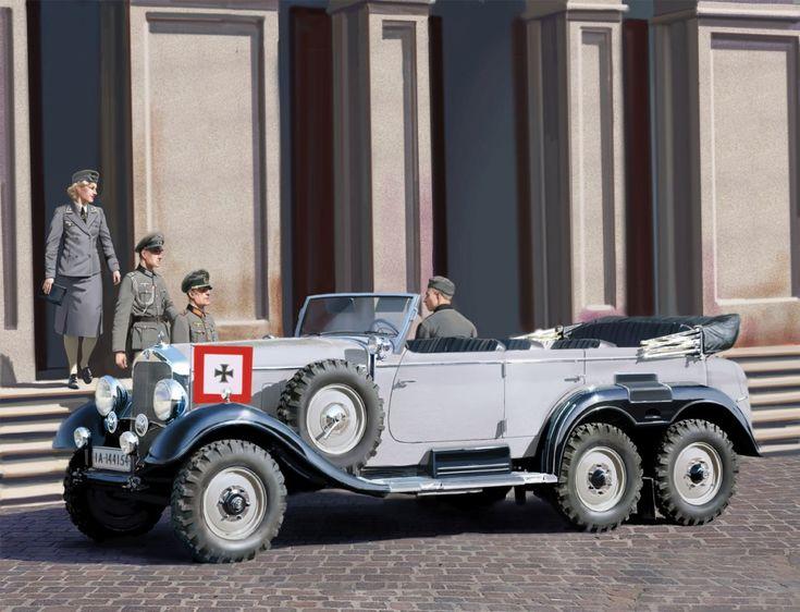 Best 107 1938 mercedes benz wehrmacht military staff car for Mercedes benz greenway staff