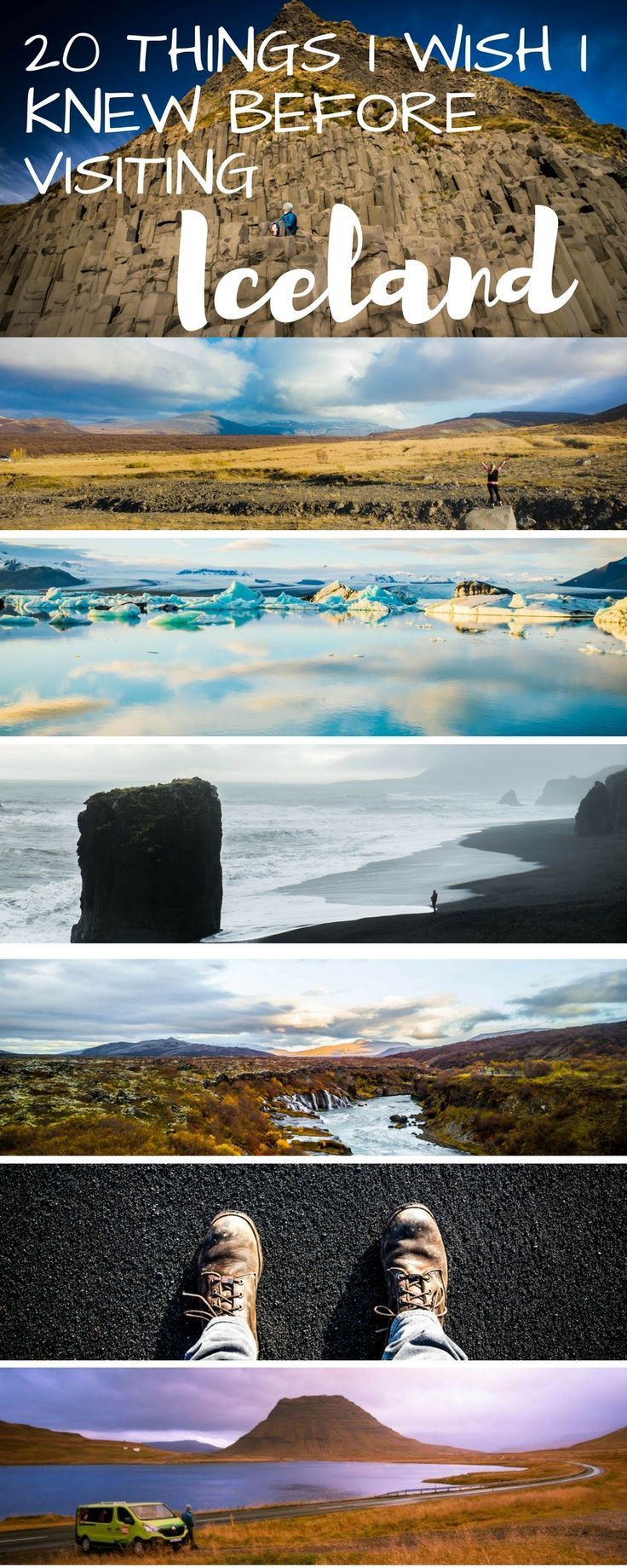 All you need to know for when you travel to Iceland. Including tips about the Blue Lagoon, Reykjavik, Things to do, the best time to fo (winter or summer), food, beautiful landscape photos, road trip ideas, Golden Circle information, waterfall suggestions