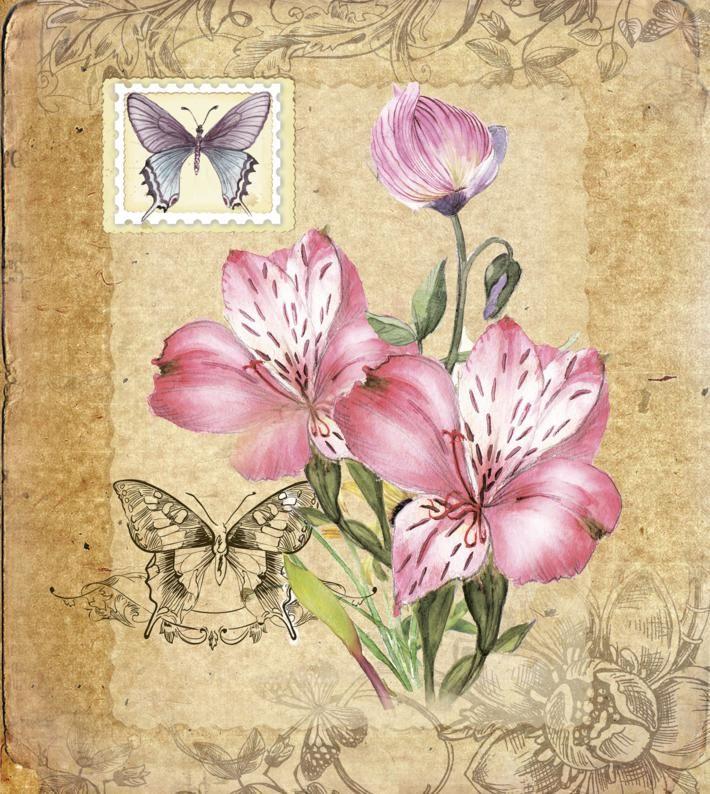Постер-цветок Винтажные цветы.