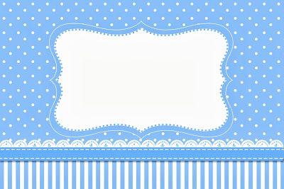 Kit para Festas - Poá e Listras Azul