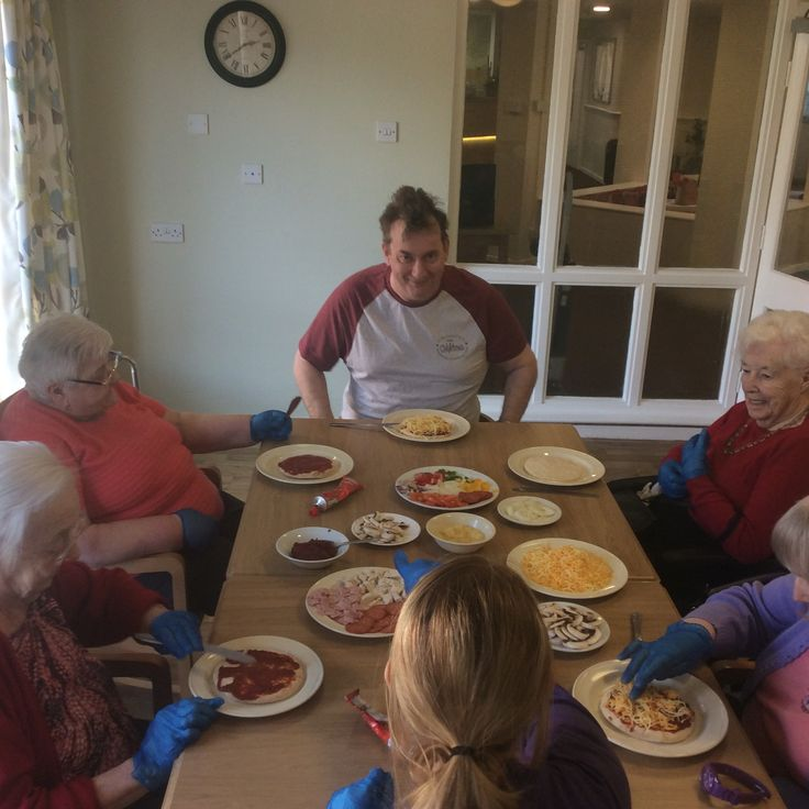 Tasty activity marks Pizza Day - Birch Green Care Home Skelmersdale