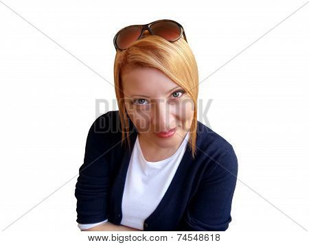 #Cheerful #Woman #redhair #isolated #stockphoto #BigStockPhoto