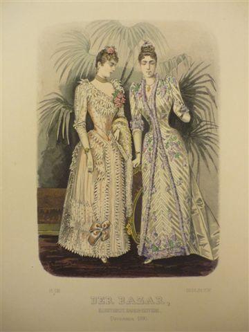 Der Bazar, Illustrirte Damen-Zeitung. December 1890. Kolor. Holstich, um 1890. 25 x 18 cm. von Mode.-: - Antiquariat Daniel Schramm e.K.