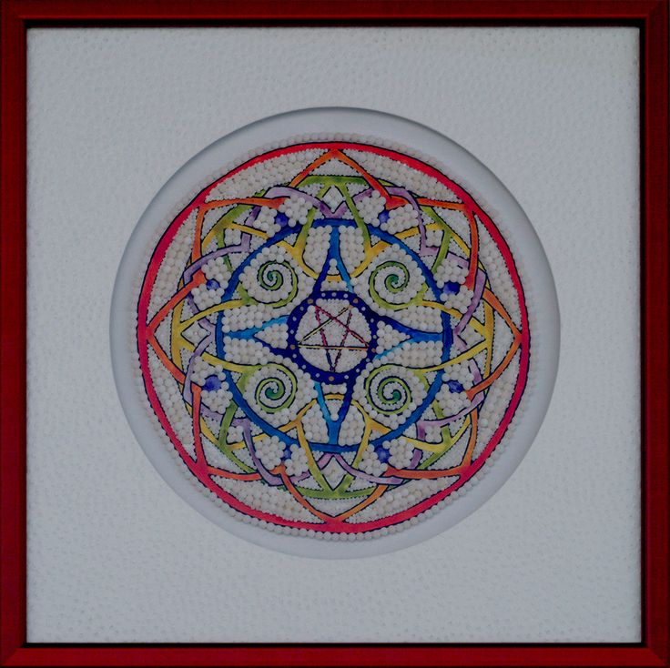 """Mandala Pentagram 2585"" • Encre & 2585 homéopathies (ink & 2585 homeopathy) • 2012 • 230×230 mm • © NACT"