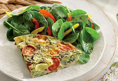 Frittata aux légumes du jour