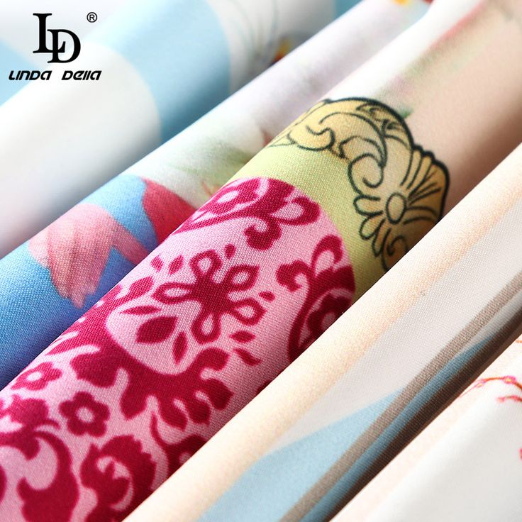 Spring Fashion Runway Long Sleeve Dress Women's V Neck Beading Printed Bohem... 1