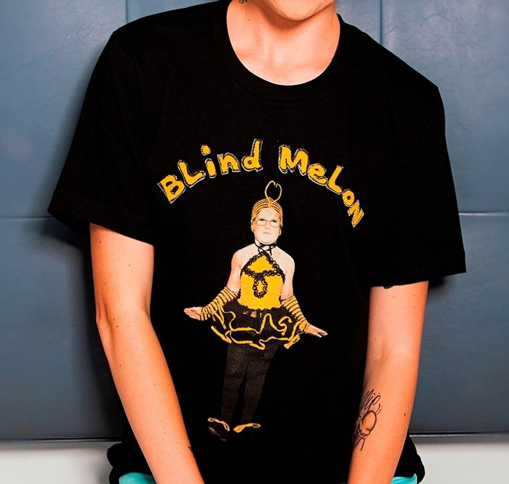 "OFFICIAL - RE-ISSUE OF THE CLASSIC BLIND MELON ""BEE GIRL"" TEE SHIRT.Unisex Tee, Hand Silk Screened On 4.1 oz., 100�0Combed Ringspun Cotton."