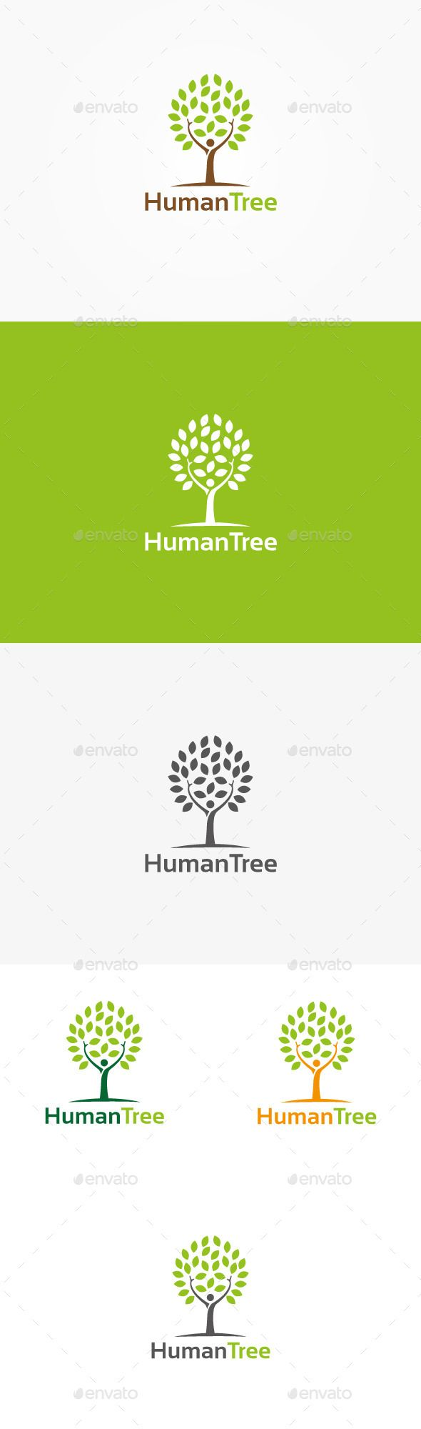 Human Tree Logo — Vector EPS #farmer #trees • Available here → https://graphicriver.net/item/human-tree-logo/9959699?ref=pxcr