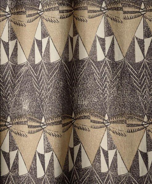 "Enid Mark Block Printed Fabric ""spook"""