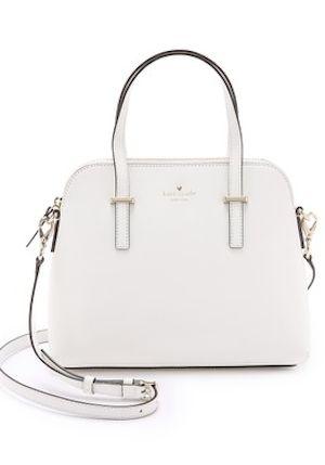 sophisticated white kate spade cross body bag