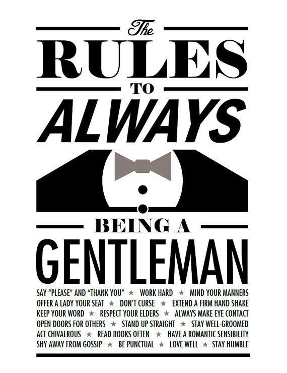 How to be a gentlemen