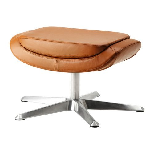 ARVIKA Footstool IKEA Soft, hardwearing and easy care leather ages gracefully.
