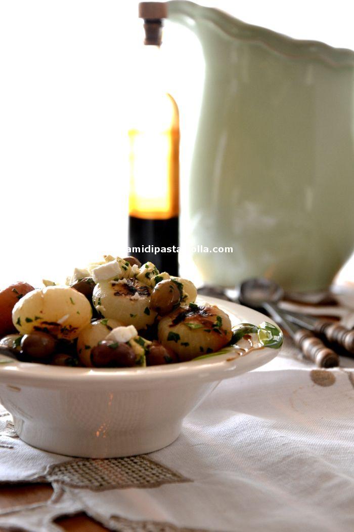 Cipolline borettane feta e olive