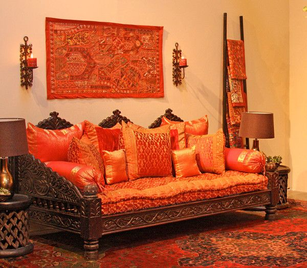 Ethnic decor jhula daybed would use this as a settee for Living room jhula