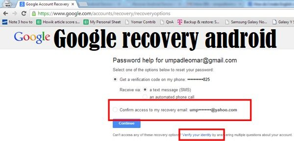 How To Recover Your Google Account For Your Android Phones Account Recovery Google Account Computer Basics