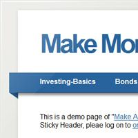 Make A jQuery Sticky Header In 5 Minutes!