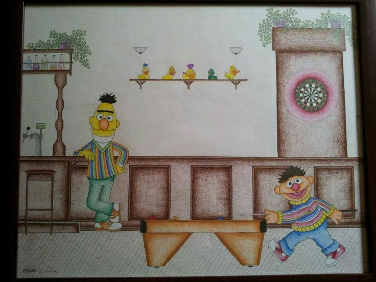 Bert & Ernie in the bar / pub